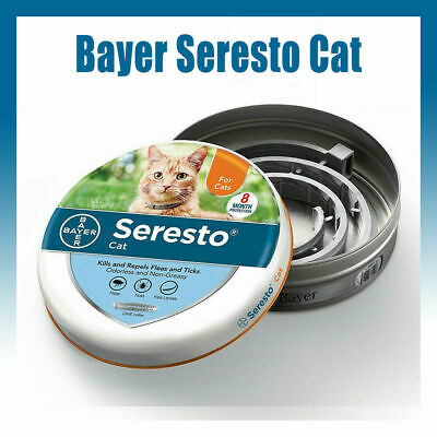 Bayer Seresto Flea Collar for Cats 8 Months and Tick Prevention -Seal original