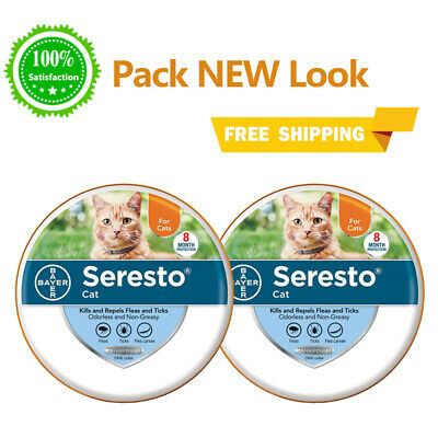 2 Pack - Bayer Seresto Flea Collar for Cats 8 Months and Tick Prevention
