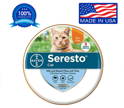 Bayer Seresto Flea Collar for Cats 8 Months and Tick Prevention