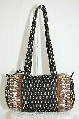 *RARE* Vera Bradley Classic MINI DUFFEL Handbag in Zebras *MADE IN THAILAND* EUC