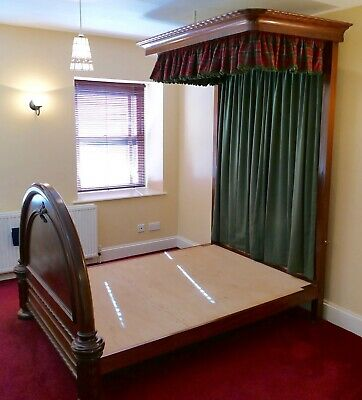 Victorian half tester mahogany double bed