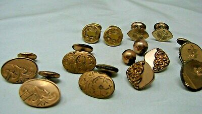 All For One $ ~ Antique Victorian Early 1900S  Lot 6 Pair Men's Cufflinks