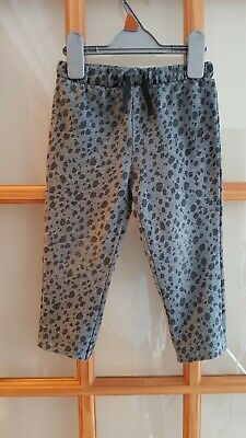 Girls Next Grey/Black Splodge Design Lounge Trousers Age 1.5/2 Years 18-24 Month