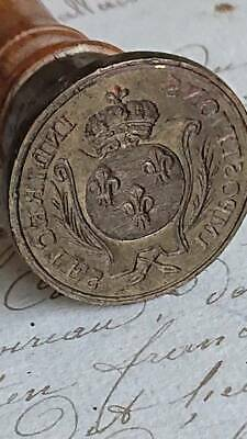 SUPERB ANTIQUE FRENCH 19th CENTURY ROYAL SEAL WITH COURONNE CROWN