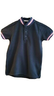 Next Boys Navy/White/Red Stripe Short Sleeved Smart Polo Top Age 5 Years