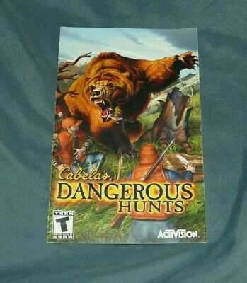 Cabela's Dangerous Hunts Playstation 2 PS2 System Instruction MANUAL ONLY