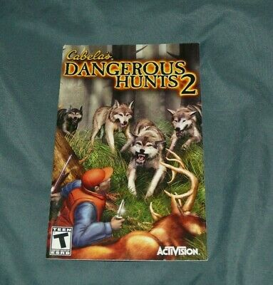 Cabela's Dangerous Hunts 2 Playstation 2 PS2 System Instruction MANUAL ONLY