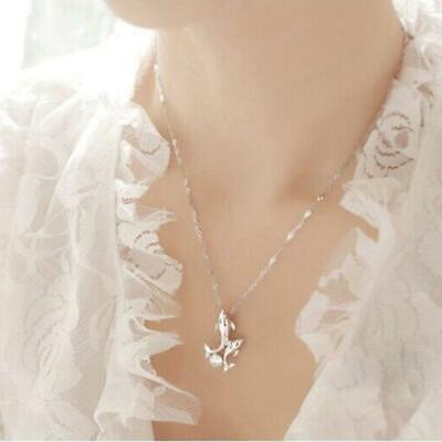 Dolphin Pendant Chain Necklace Womens Girls Jewellery Gift 6T