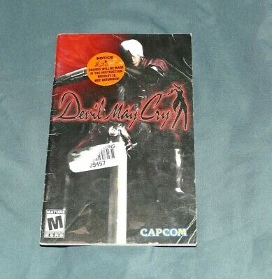 Devil May Cry Playstation 2 PS2 System Instruction Booklet MANUAL ONLY