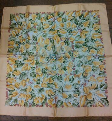 HERMES Carre 86 SCARF 100% Silk Pink-Beige Authentic Made in FRANCE NEW