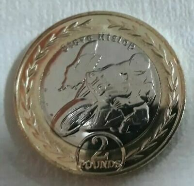 2019 Isle of Man STEVE HISLOP £2 Two Pound Coin BUNC  ,TT RACES