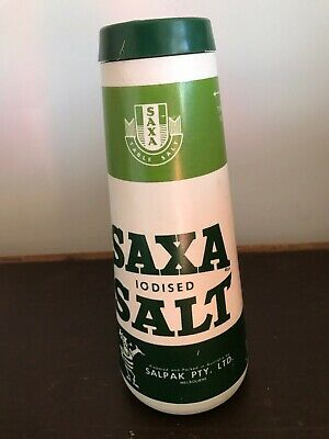 Saxa Salt - 1 1/2 Lb - Plastic Container With Salt - Very Good Condition
