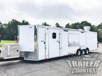 NEW 8.5X32 ENCLOSED CARGO CONCESSION FOOD VENDING KITCHEN TRAILER w/ BATH