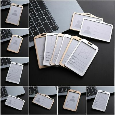 Metal Vertical Tag ID Business Case Name Card Work Card Holders Aluminum Alloy