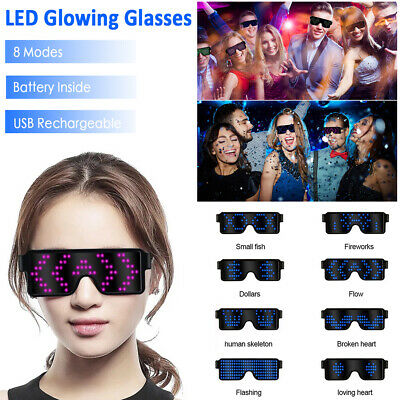LED EL Wire Glasses Light Up Glow Sunglasses Eyewear Shades for Nightclub Party