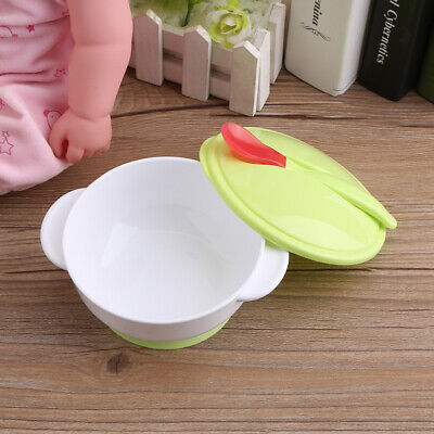 Toddler Baby Suction Cup Bowl with Spoon Set Food Feeding Children Training Suit