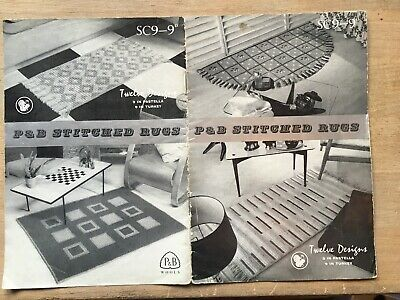 Vintage Pattern Booklet 50s: P&B STITCHED RUGS - 12 Designs