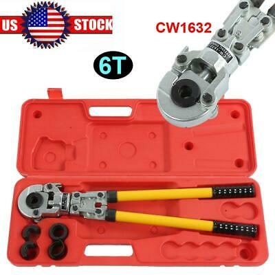 CW1632 Hydraulic Crimping Tool 6T Pipe Tube Crimper Clamping Pressing Pliers USA