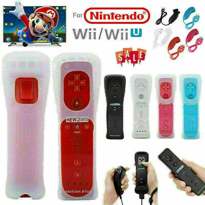 For Nintendo WII/WII U Built in Motion Plus Remote + Nunchuck Controller + Case