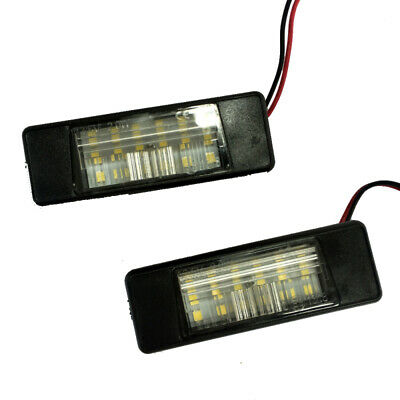 2xLED Number License Plate Light Lamp For Nissan Qashqai X-trail Juke zxc