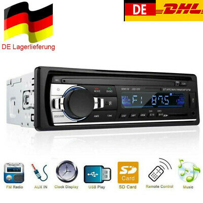 Single 1Din Autoradio Bluetooth In Dash Audio Radio MP3 Player FM SD USB AUX IN