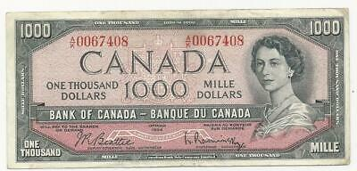 1954 Beattie-Rasminsky; - $1000 Bank note of Canada