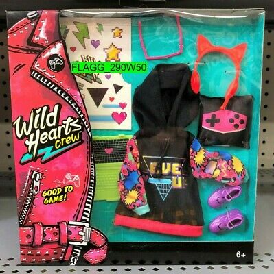 NEW Wild Hearts Crew *GOOD TO GAME FASHIONS* 8 Piece Accessory Pack Doll Clothes