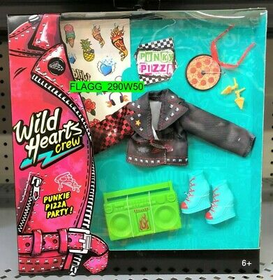 NEW Wild Hearts Crew *PUNKIE PIZZA PARTY* 8 Piece Accessory Pack Doll Clothes