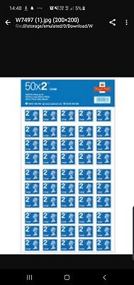 50 x 2nd Class Royal Mail Stamps.