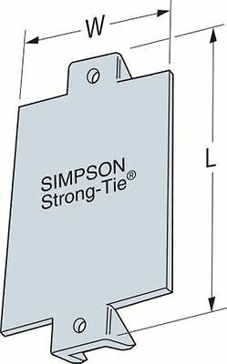 """Simpson Strong-Tie NS1 1-1/2"""" x 3"""" Nail Stop Plate (Pack of 100)"""