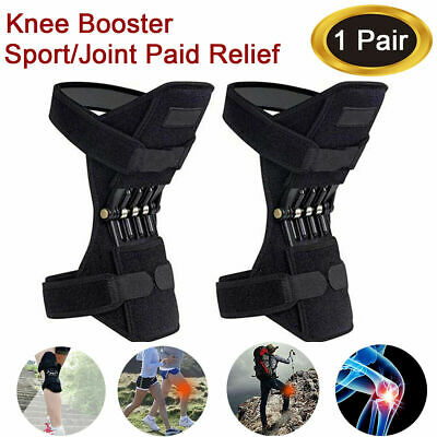 2X Knee Joint Support Brace Lift Booster Leg Pads Sport Spring Force Pain Relief