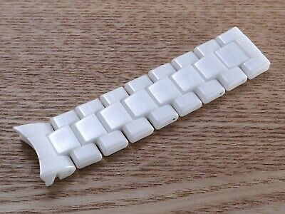 For Emporio Armani AR1416 Watch White 22mm Ceramic Half Strap Band Bracelet