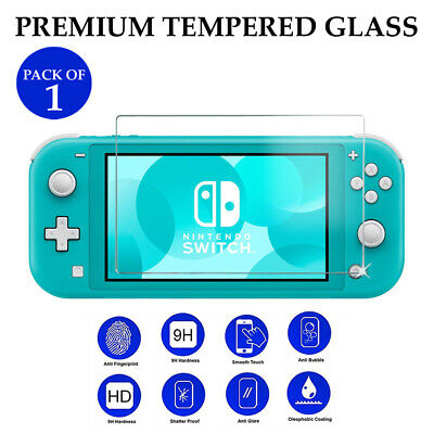 1X Custom transparent TEMPERED GLASS screen protection for Nintendo Switch LITE