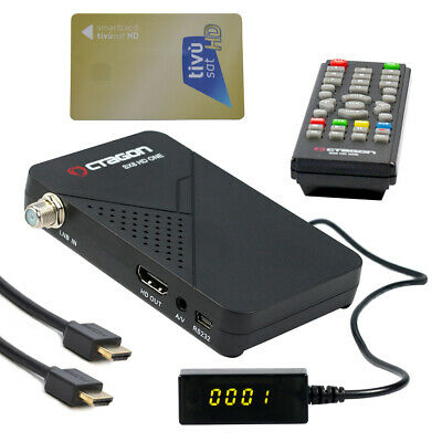 FULL HD Tivu Sat Digital Satelliten Receiver Smartcard TIVUSAT Karte aktiviert