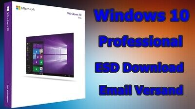 MS Windows 10 Pro Win 10 pro 32/64Bit Vollversion Produktkey Download Email