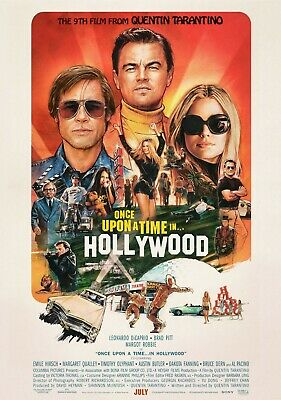Once Upon a Time in Hollywood Promo Movie Poster Print Quentin Tarantino A4