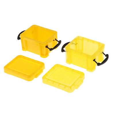 1/6 Candy Color Storage Case for 1/6 Doll House Furniture Accs Yellow
