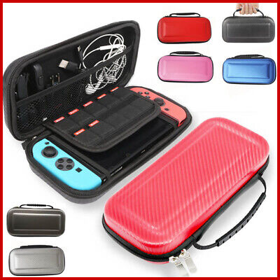 Carrying Case Nintendo Switch Carbon Fiber Hard Shell Portable Pouch Travel Bag