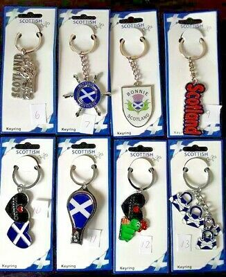 Scotland Keyrings Scottish Souvenirs Keychains Collection Charms New