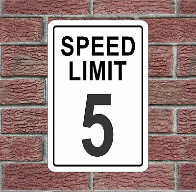 5 MPH Speed Limit Aluminum Road Sign
