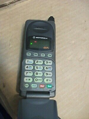 Vintage Motorola Flip Cell Cellular Phone 72564AD Retractable Antenna Mobile+