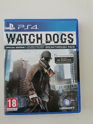Watch Dogs PS4 Video Game PlayStation 4 Disc