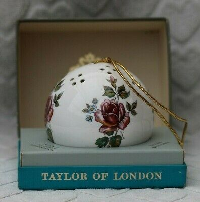 Vintage Pomander Taylor Of London Made In England Boxed