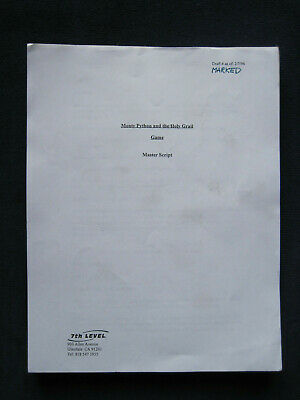 ORIGINAL Working Draft SCRIPT for MONTY PYTHON & THE HOLY GRAIL VIDEO GAME