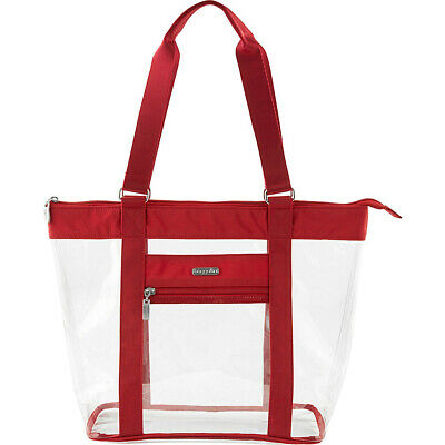 baggallini Clear Event Compliant Tote 4 Colors Faux Leather Bag NEW