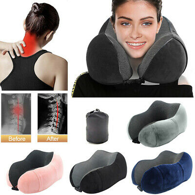 USA Travel Neck Pillow Memory Foam U-shaped Neck Support Headrest Travel Pillows