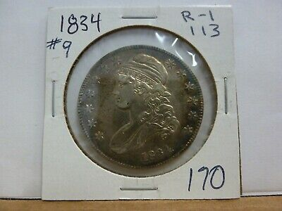 1834 Capped Bust Silver Half Dollar #9