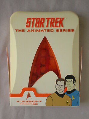 STAR TREK COMPLETE ANIMATED SERIES 4 DVD Discs In Collectible Case KIRK SPOCK