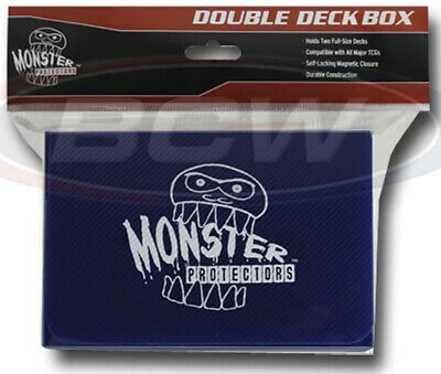 BCW Monster Double Deck Box Matte Blue (Holds 150 cards)