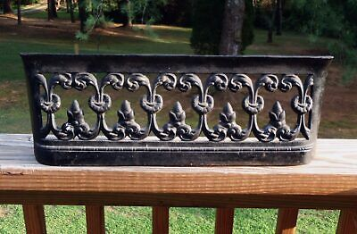 "Antique FAVORITE Stove & Range Co Cast Iron 18"" STOVE VENT FIREPLACE FENDER NR"